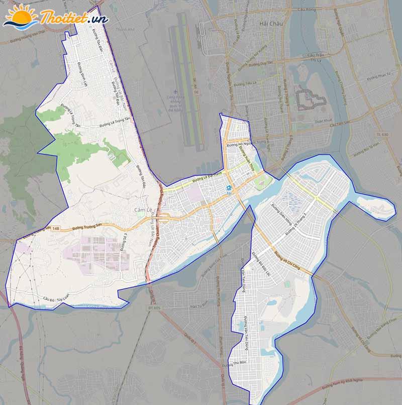 Bản đồ giao thông  quận Cẩm Lệ