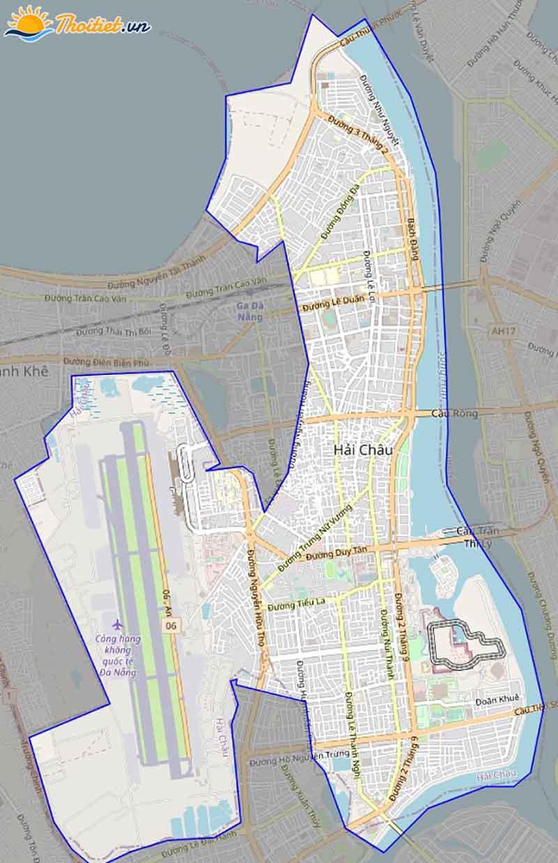 Bản đồ giao thông quận Hải Châu