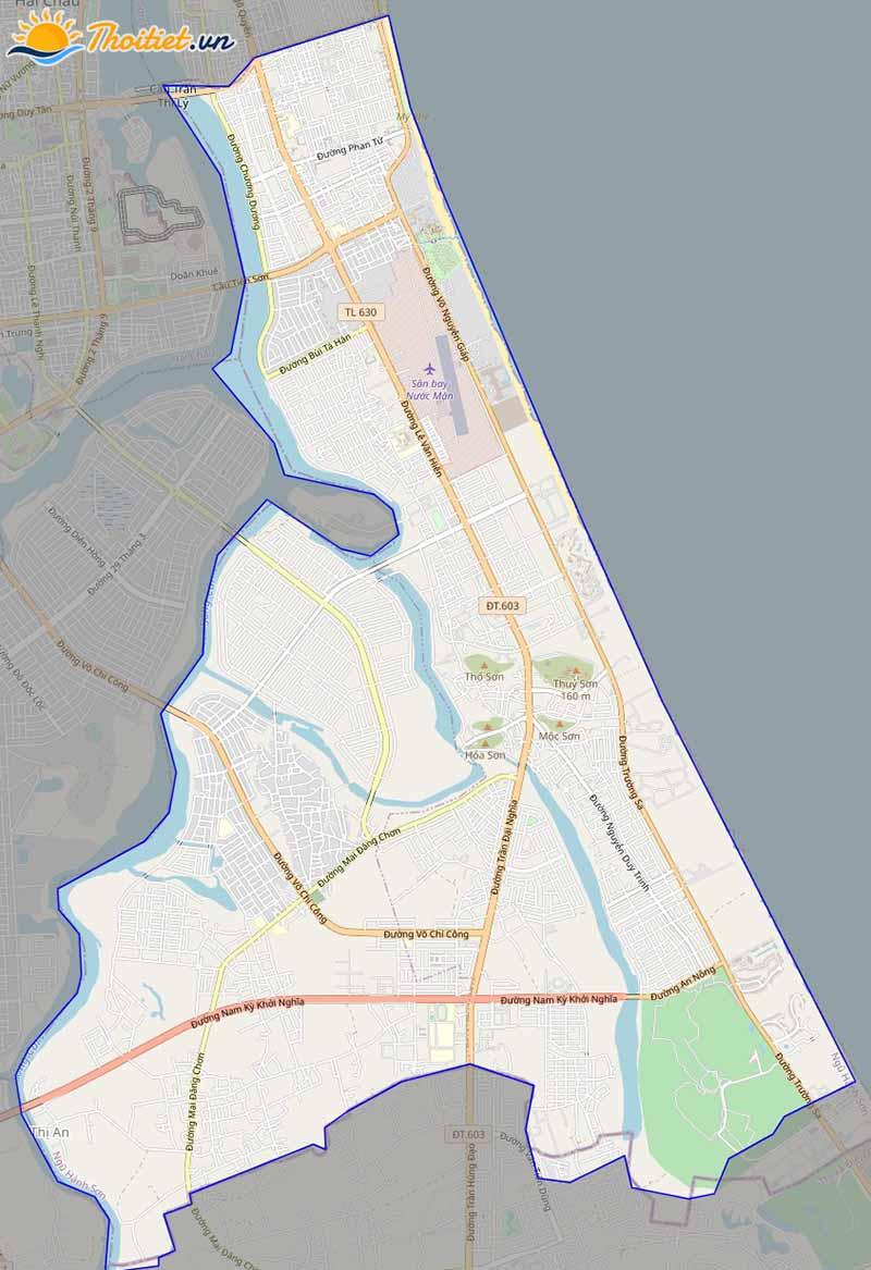 Bản đồ giao thông quận Ngũ Hành Sơn