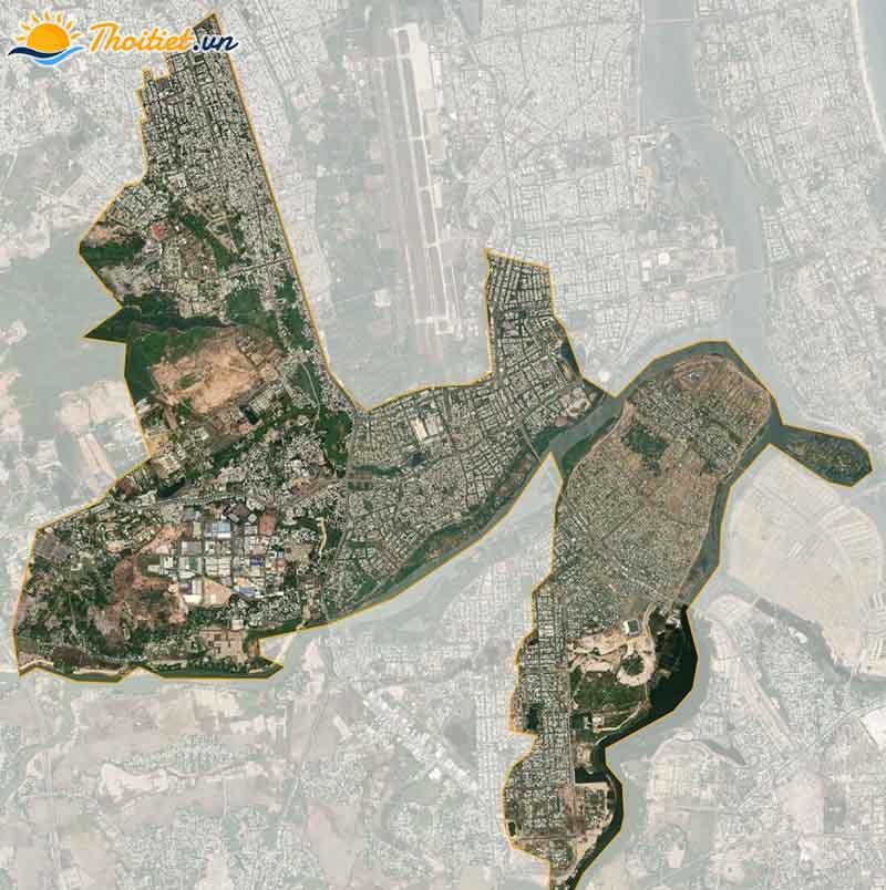 Bản đồ vệ tinh  quận Cẩm Lệ