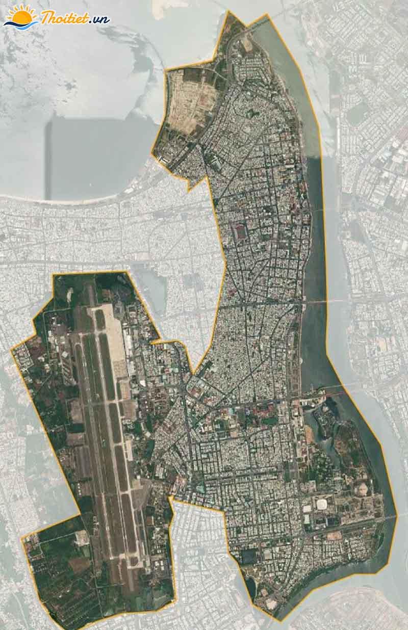 Bản đồ vệ tinh quận Hải Châu