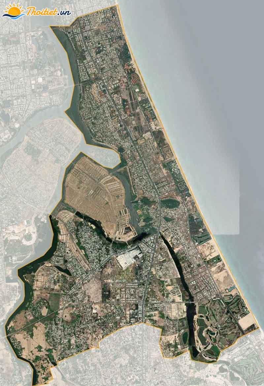 Bản đồ vệ tinh quận Ngũ Hành Sơn