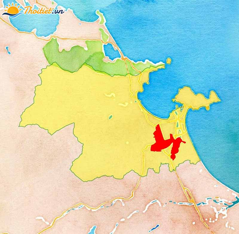Địa giới hành chính  quận Cẩm Lệ