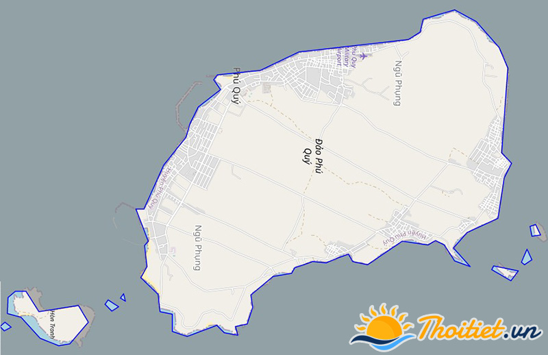 Bản đồ giao thông của huyện Phú Quí