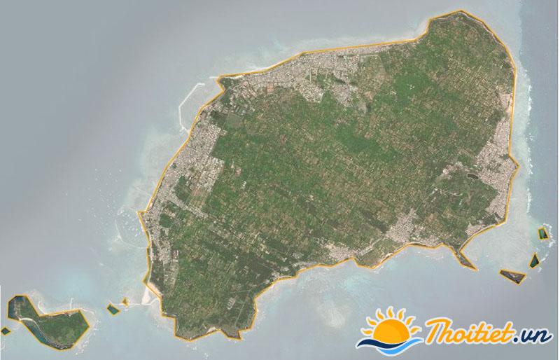 Bản đồ vệ tinh của huyện Phú Quí