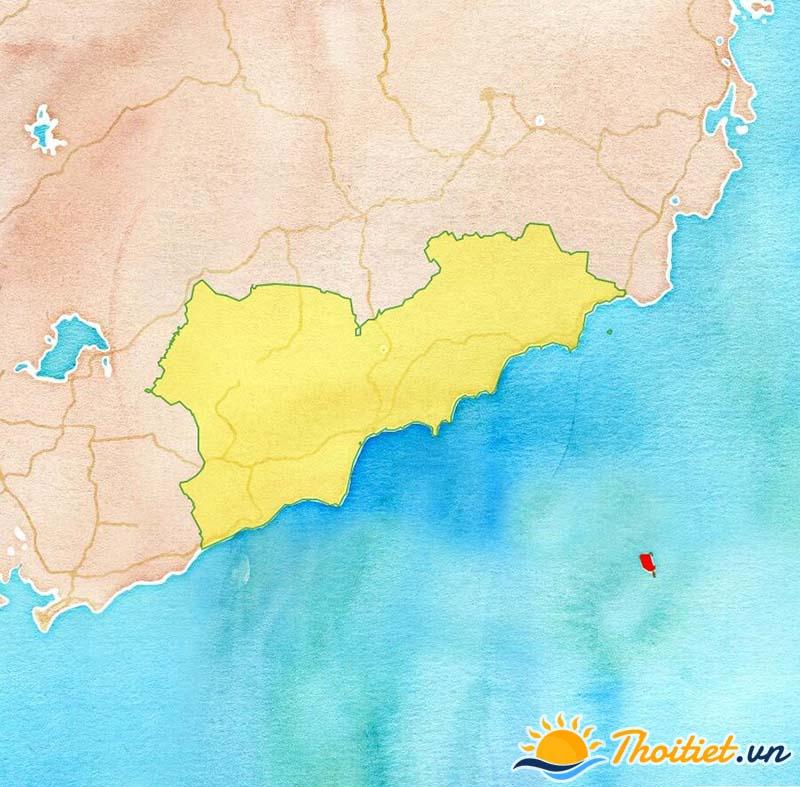 Bản đồ địa giới của huyện Phú Quí