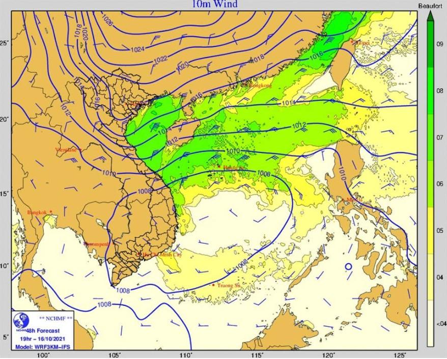 Xuất hiện thêm vùng áp thấp gây thời tiết nguy hiểm