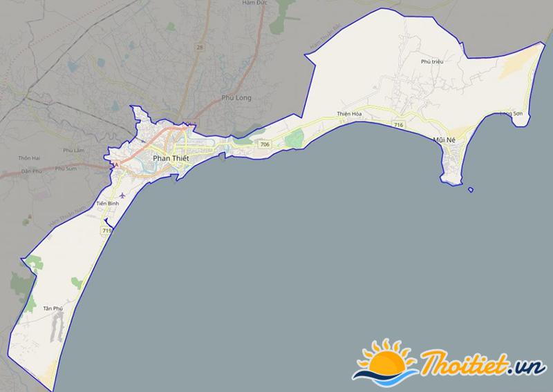 Bản đồ giao thông của thành phố Phan Thiết