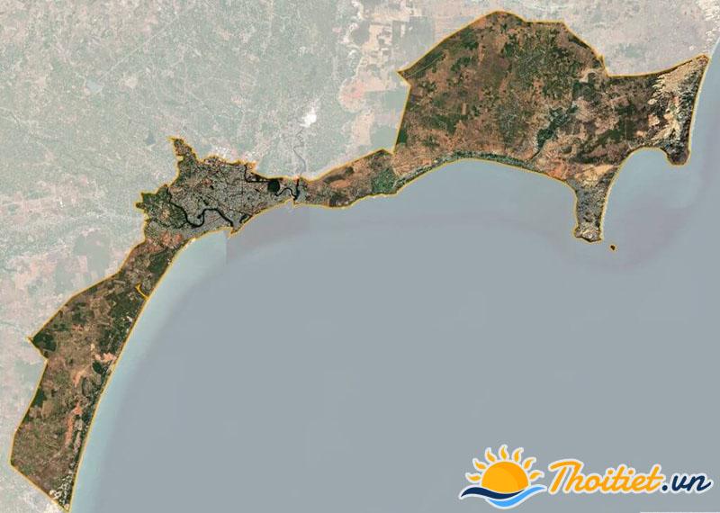 Bản đồ vệ tinh của thành phố Phan Thiết