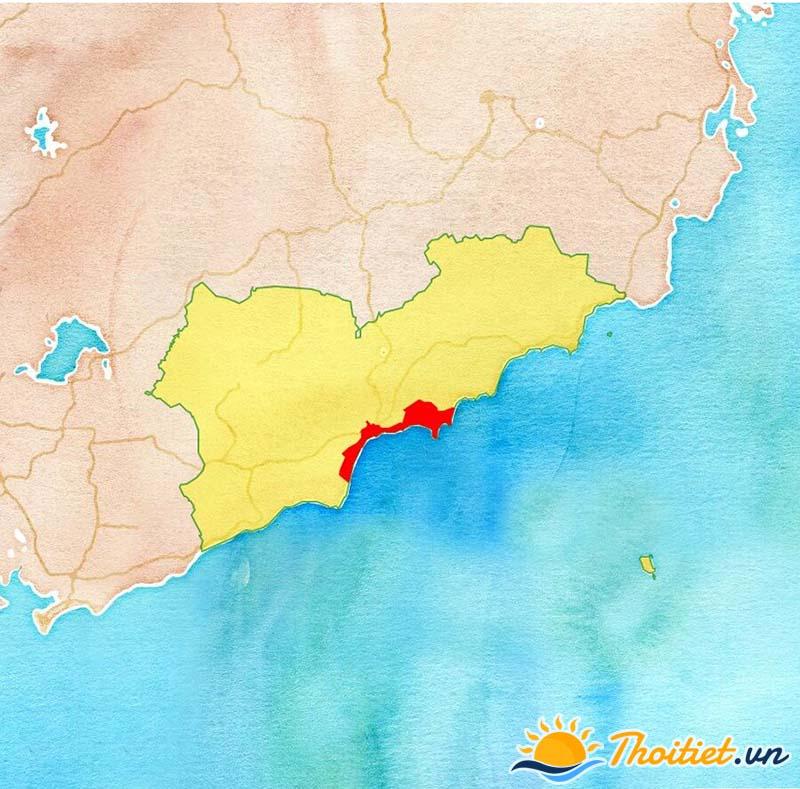 Bản đồ địa giới của thành phố Phan Thiết