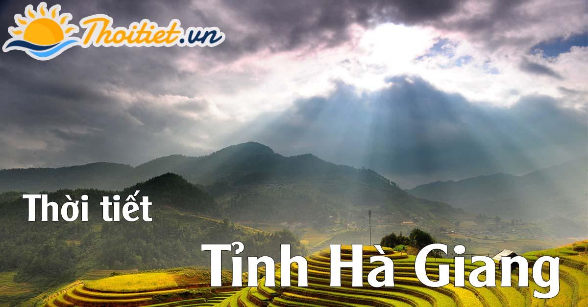 Dự báo thời tiết tỉnh Hà Giang