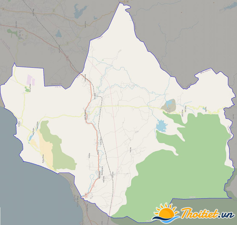 Bản đồ giao thông của huyện Bắc Bình