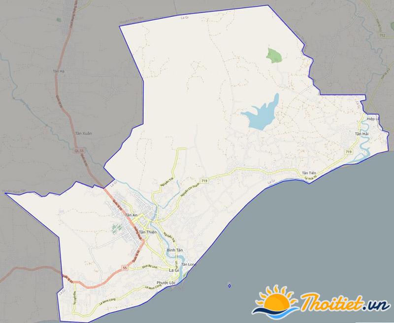 Bản đồ giao thông của thị xã La Gi