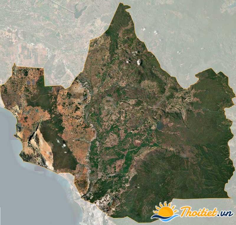 Bản đồ vệ tinh của huyện Bắc Bình