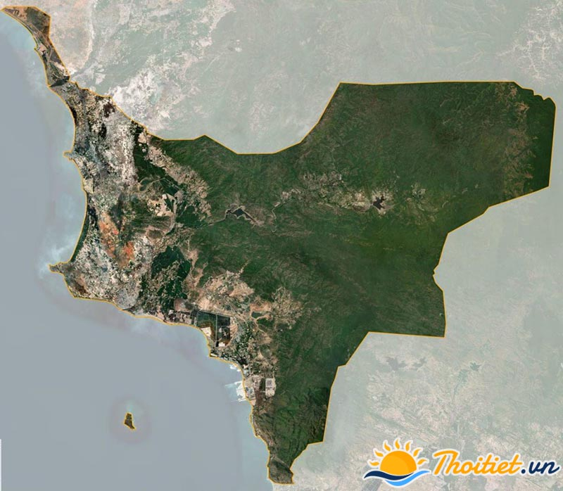 Bản đồ vệ tinh của huyện Tuy Phong