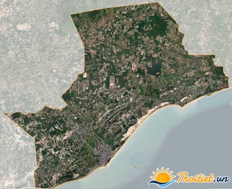 Bản đồ vệ tinh của thị xã La Gi