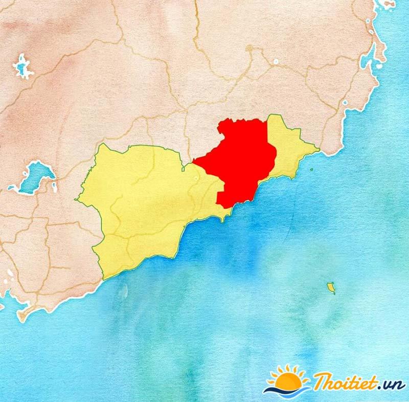 Bản đồ địa giới của huyện Bắc Bình