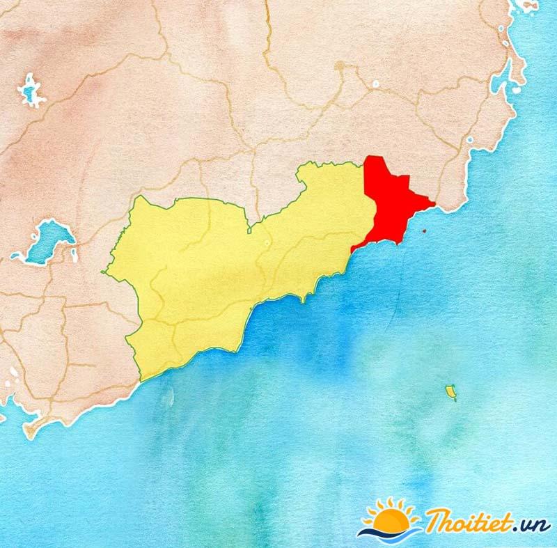 Bản đồ địa giới của huyện Tuy Phong
