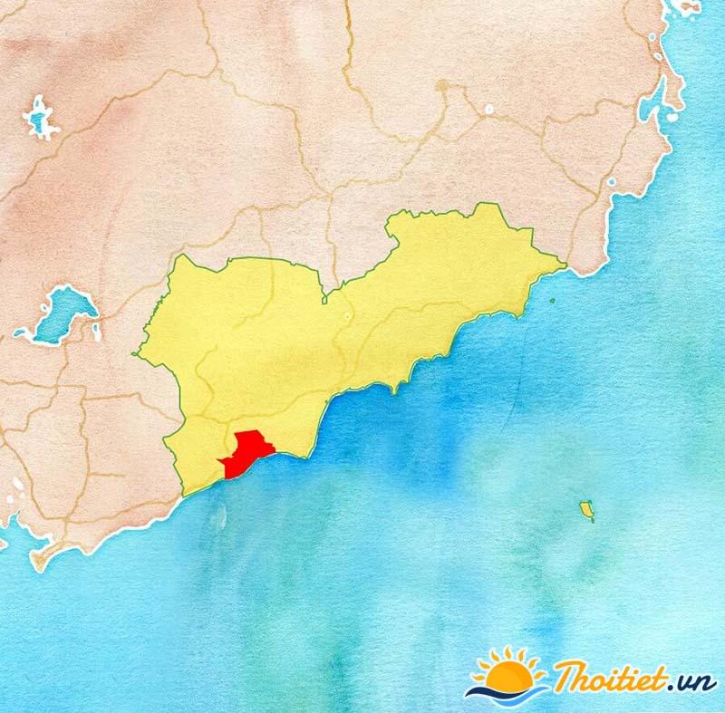 Bản đồ địa giới của thị xã La Gi