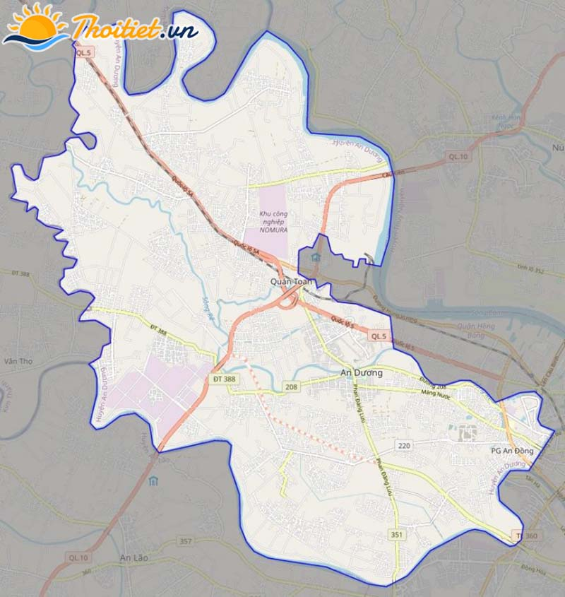 Bản đồ giao thông của huyện An Dương