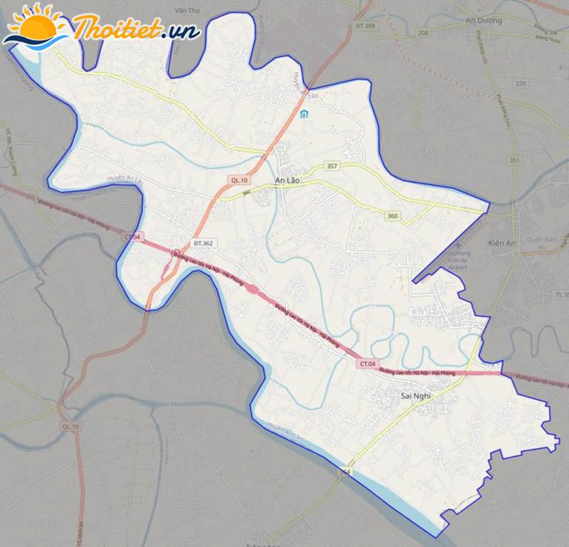 Bản đồ giao thông của huyện An Lão