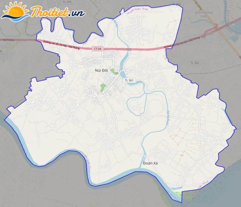 Bản đồ giao thông của huyện Kiến Thuỵ