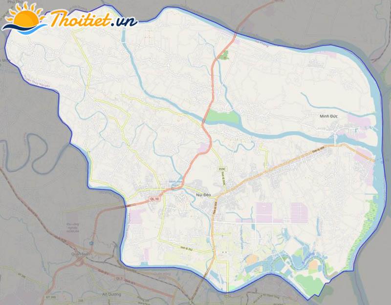 Bản đồ giao thông của huyện Thủy Nguyên
