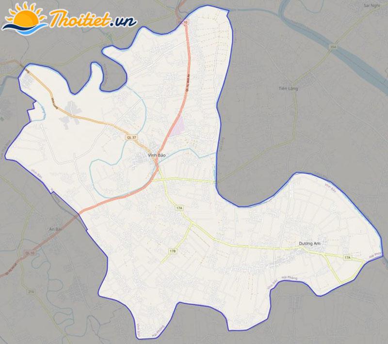 Bản đồ giao thông của huyện Vĩnh Bảo