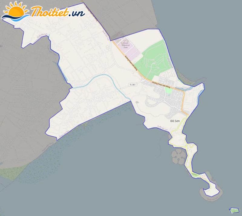 Bản đồ giao thông của quận Đồ Sơn
