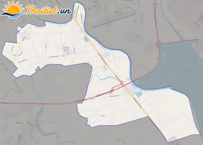 Bản đồ giao thông của quận Dương Kinh