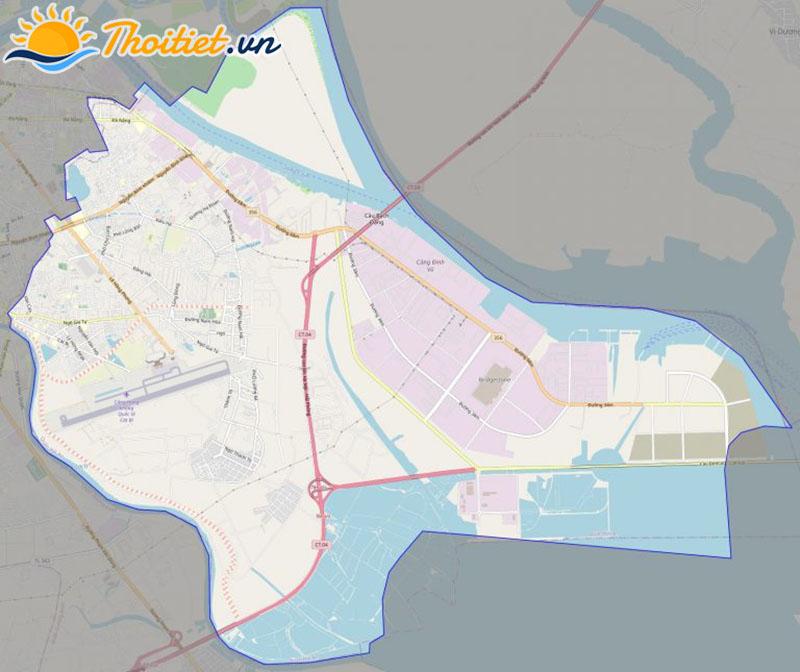 Bản đồ giao thông của quận Hải An