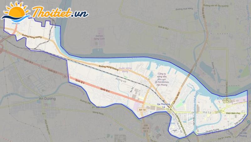 Bản đồ giao thông của quận Hồng Bàng