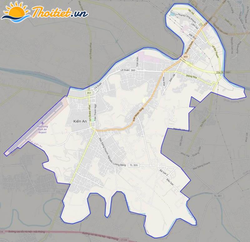 Bản đồ giao thông của quận Kiến An