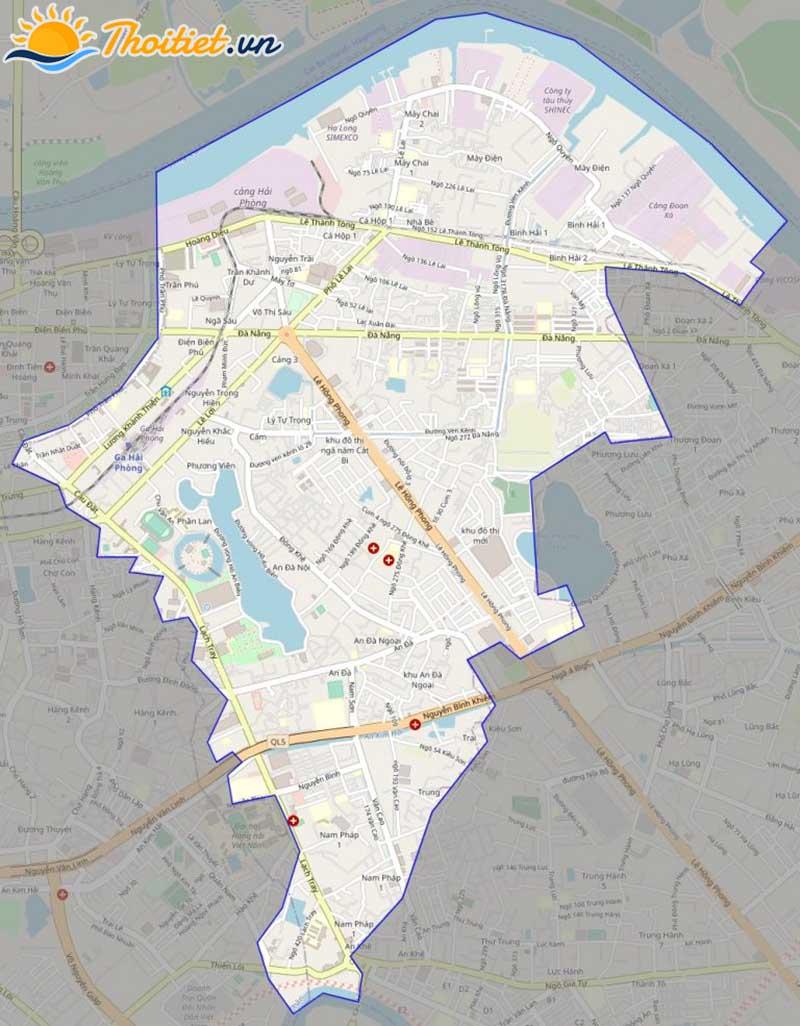 Bản đồ giao thông của quận Ngô Quyền