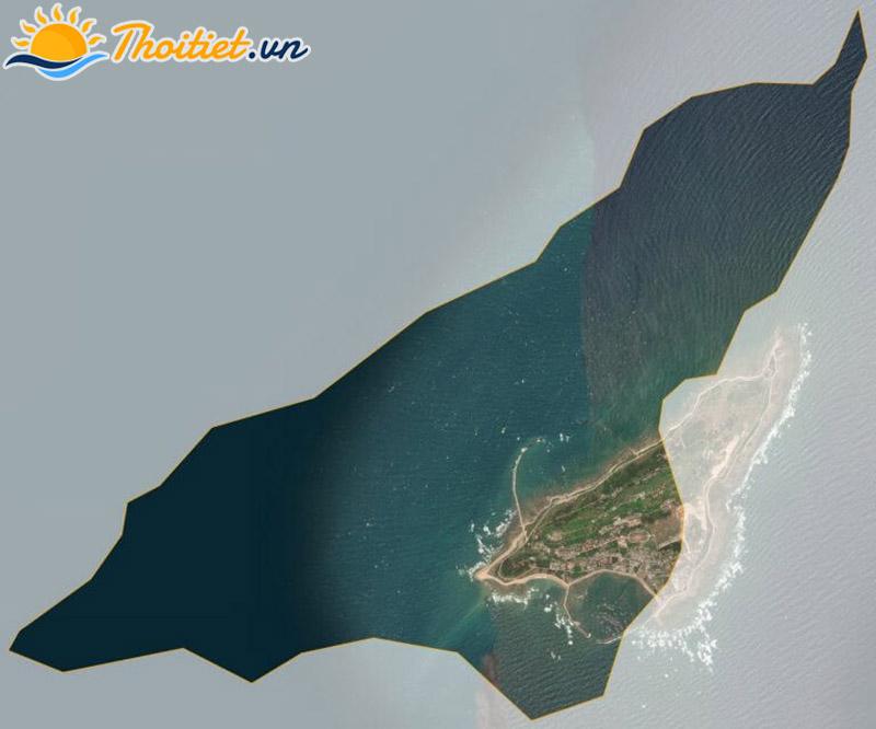 Bản đồ vệ tinh của huyện Bạch Long Vĩ