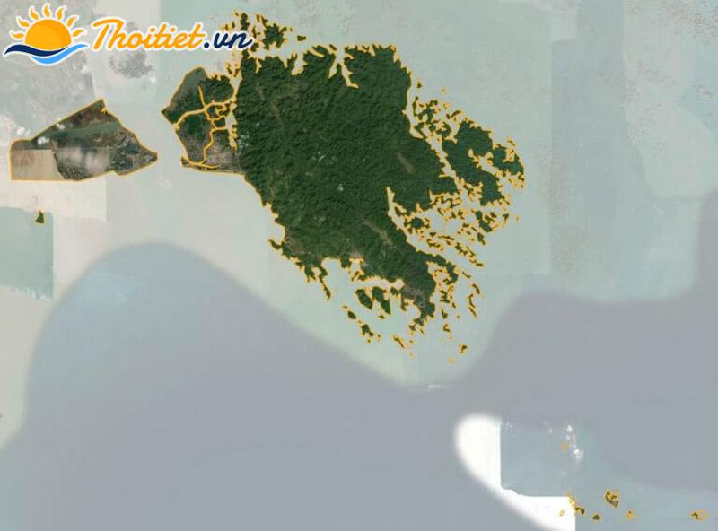 Bản đồ vệ tinh của huyện Cát Hải