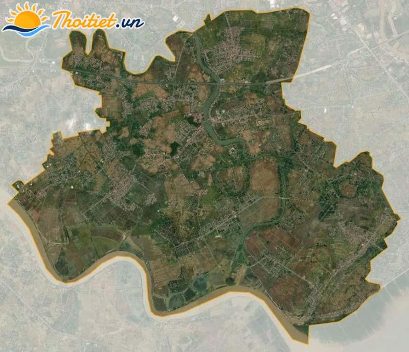 Bản đồ vệ tinh của huyện Kiến Thuỵ