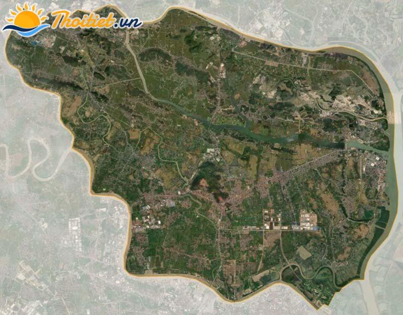 Bản đồ vệ tinh của huyện Thủy Nguyên