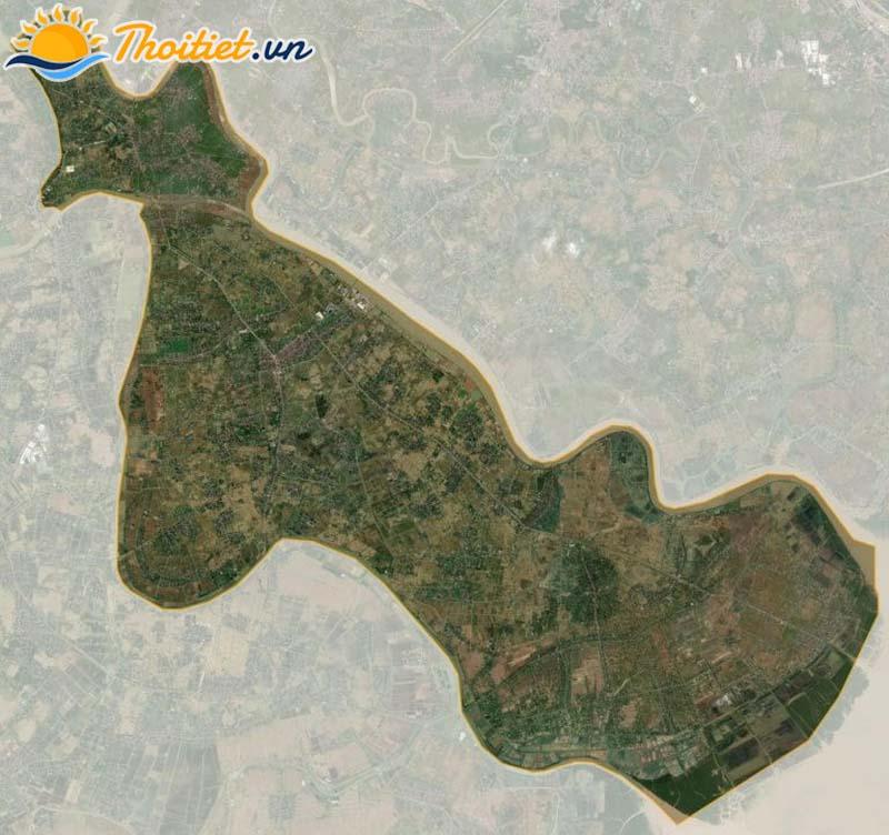 Bản đồ vệ tinh của huyện Tiên Lãng