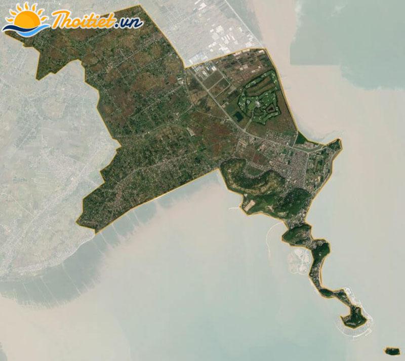 Bản đồ vệ tinh của quận Đồ Sơn