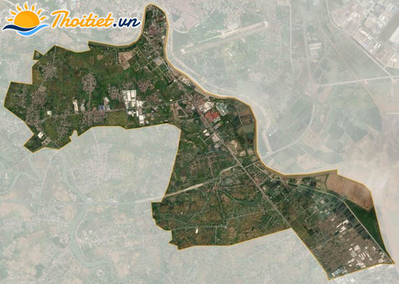 Bản đồ vệ tinh của quận Dương Kinh