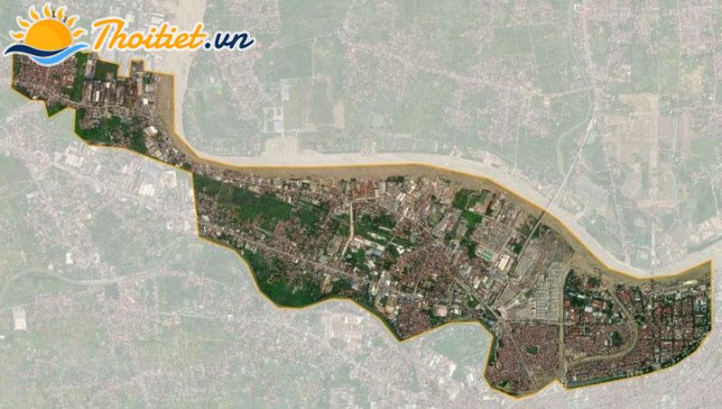 Bản đồ vệ tinh của quận Hồng Bàng