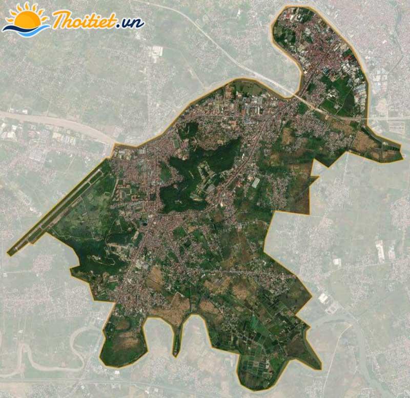 Bản đồ vệ tinh của quận Kiến An