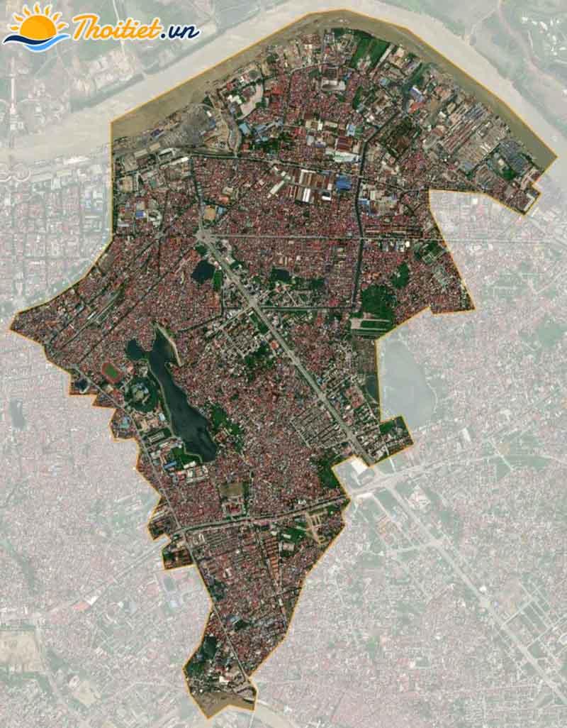 Bản đồ vệ tinh của quận Ngô Quyền
