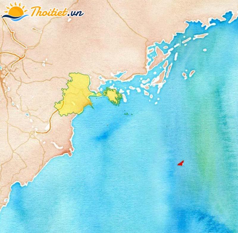 Bản đồ địa giới, vị trí của huyện Bạch Long Vĩ
