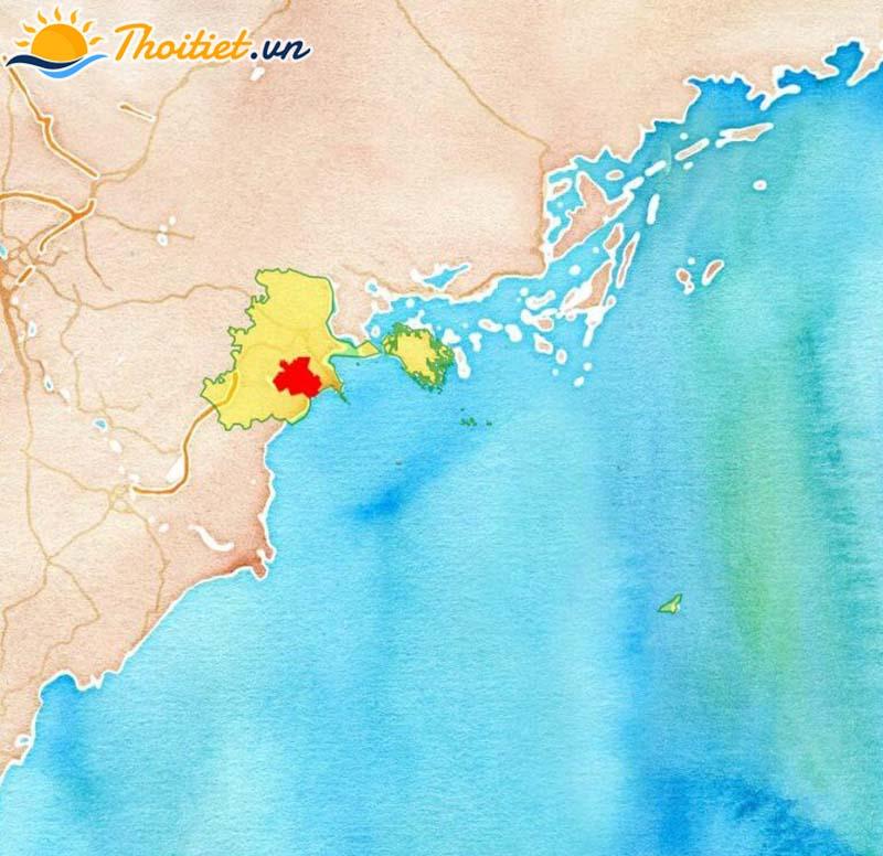 Bản đồ địa giới, vị trí của huyện Kiến Thuỵ