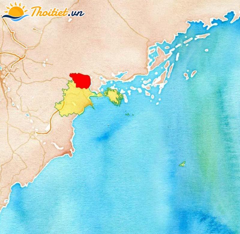 Bản đồ địa giới, vị trí của huyện Thủy Nguyên