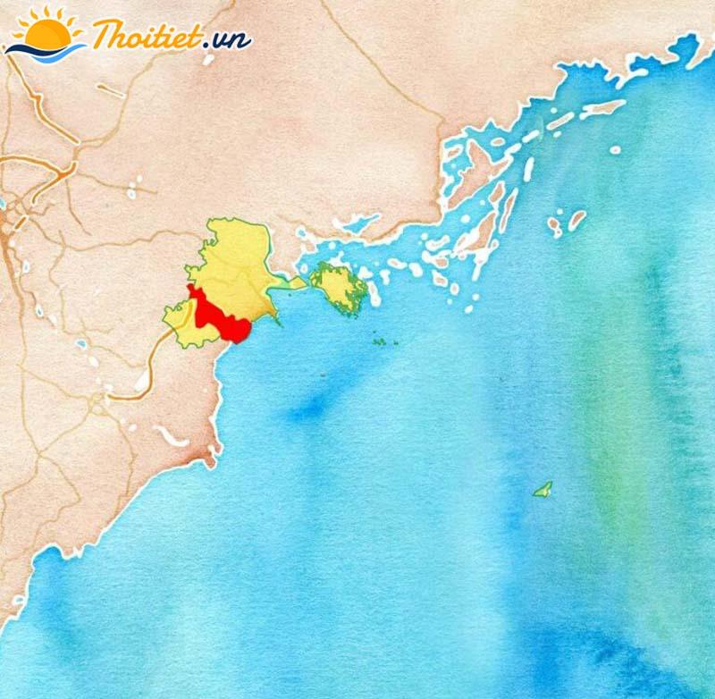 Bản đồ địa giới, vị trí của huyện Tiên Lãng