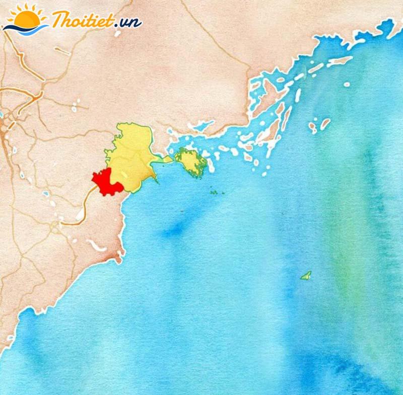 Bản đồ địa giới, vị trí của huyện Vĩnh Bảo