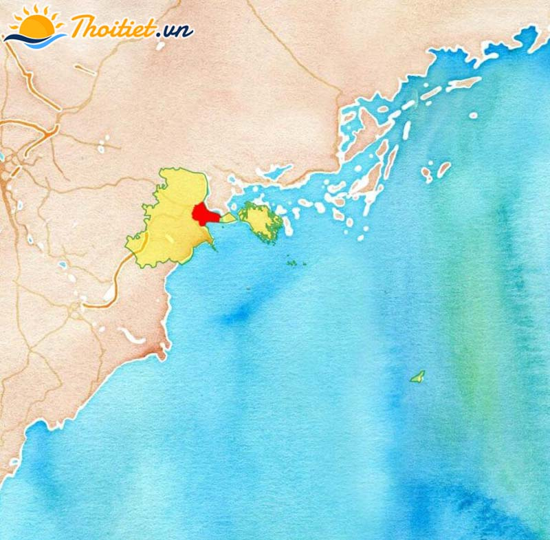Bản đồ địa giới, vị trí của quận Hải An